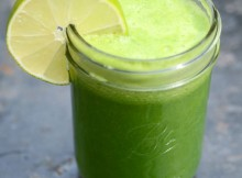 Cucumber Mint Kale Juice Recipe In Mason Jar