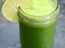 Cucumber Mint Kale Juice Recipe In Mason Jar